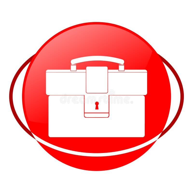 Teczki wektorowa ilustracja, Czerwona ikona ilustracji