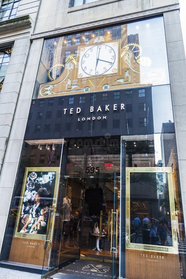 Ted Baker-Speicher in New York City, USA stockfotografie