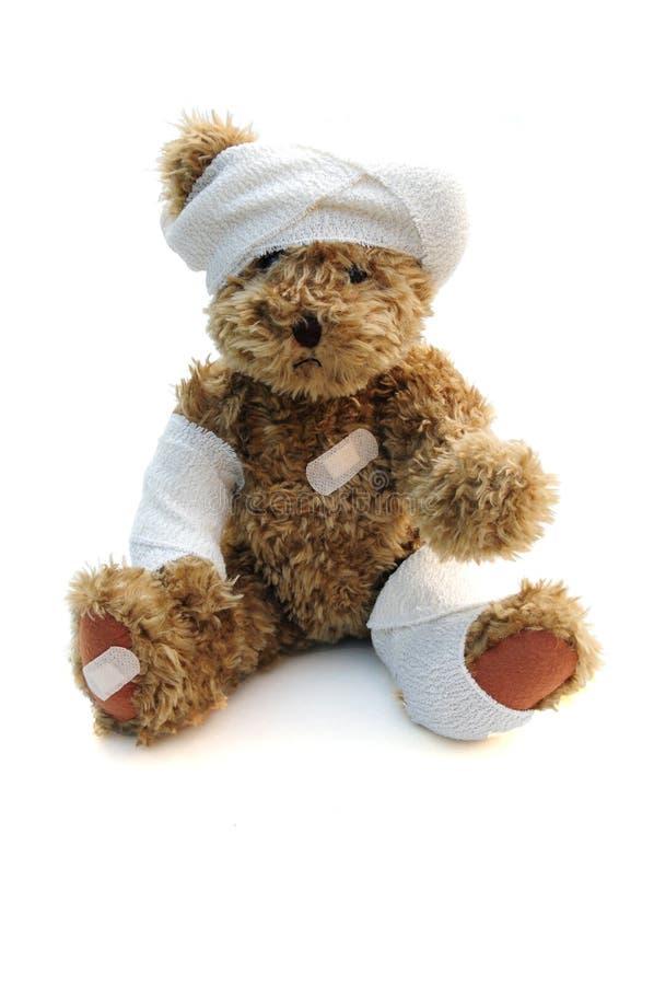 Ted blessé photo libre de droits