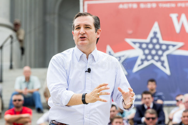 Ted Cruz - pro raduno della famiglia immagini stock