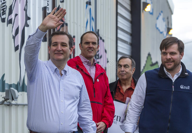 Ted Cruz waving to the crowd. stock photography