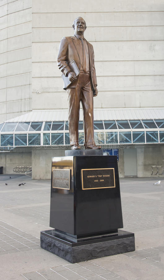 Ted Rogers Statue fotografie stock
