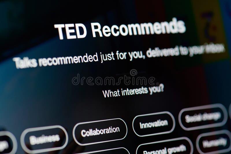 Ted rozmowy polecać obraz royalty free
