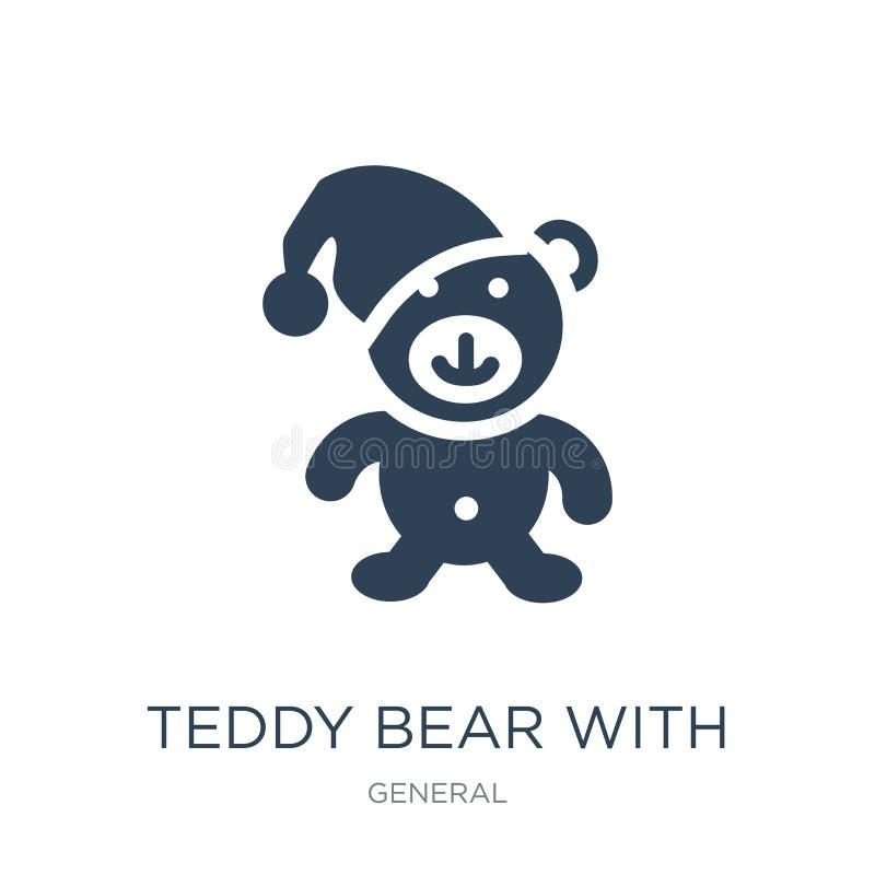 teddy αντέξτε με το εικονίδιο καπέλων ύπνου στο καθιερώνον τη μόδα ύφος σχεδίου teddy αφορτε με το εικονίδιο καπέλων ύπνου που απ ελεύθερη απεικόνιση δικαιώματος