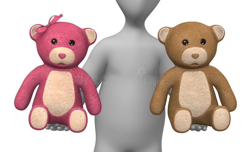 Download Teddy stock illustration. Image of humanoid, show, teddy - 14856180