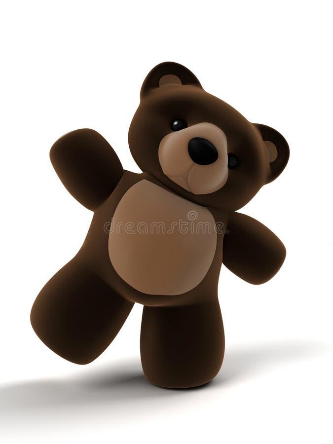 teddy 3 d ilustracja wektor