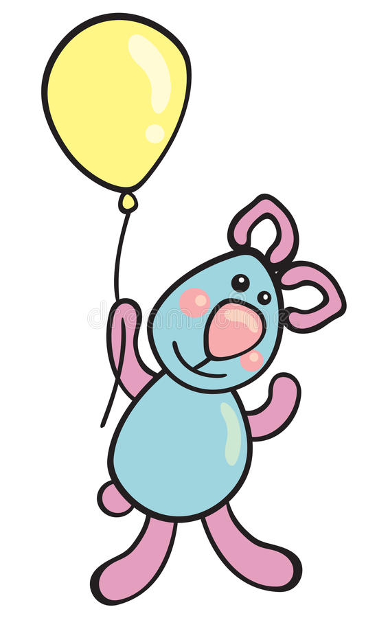 Download Teddy with balloon stock vector. Image of birthday, vector - 23414715