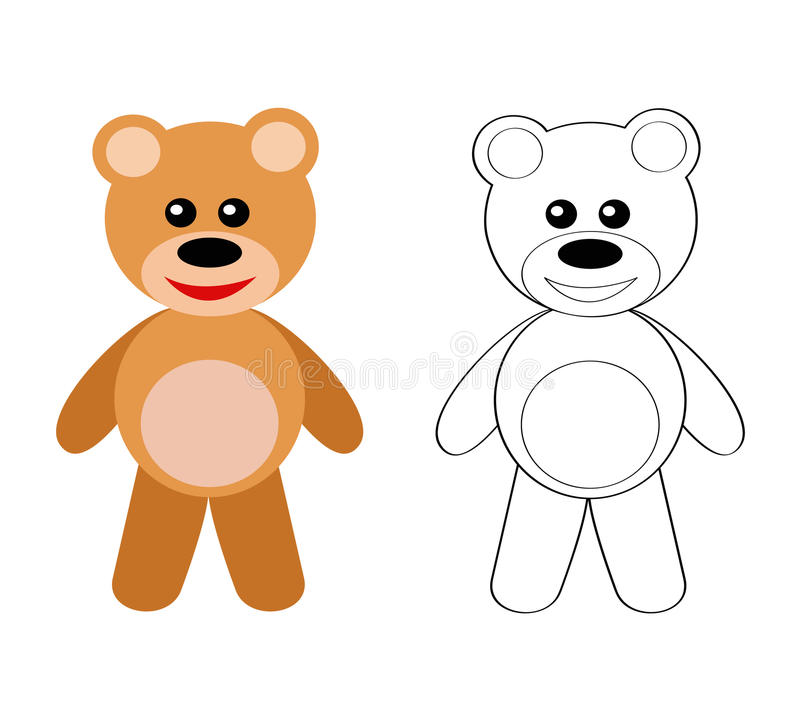 Download Teddy bear stock vector. Image of coloring, bear, smiling - 13259407