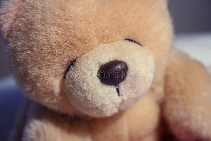 Teddy bear. Close up macro of teddy bear royalty free stock photos