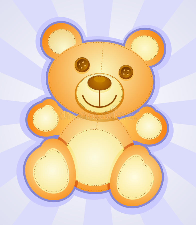 Download Teddy Bear stock vector. Image of cartoon, burst, buttons - 24681164