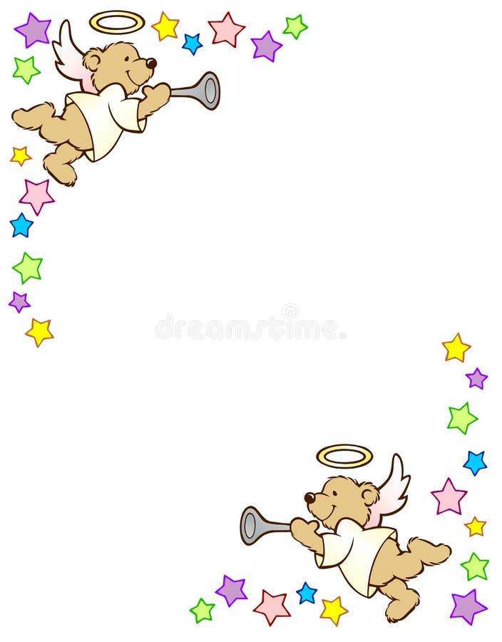 Teddy Bear Angel ilustração stock