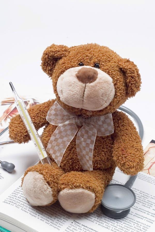 Teddy bear as a doctor stock photography