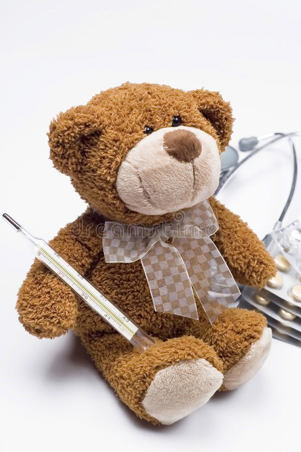 Teddy bear as a doctor royalty free stock photography