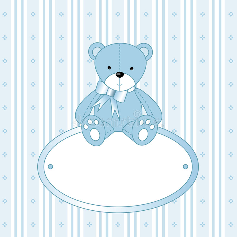 Teddy bear for baby boy stock images