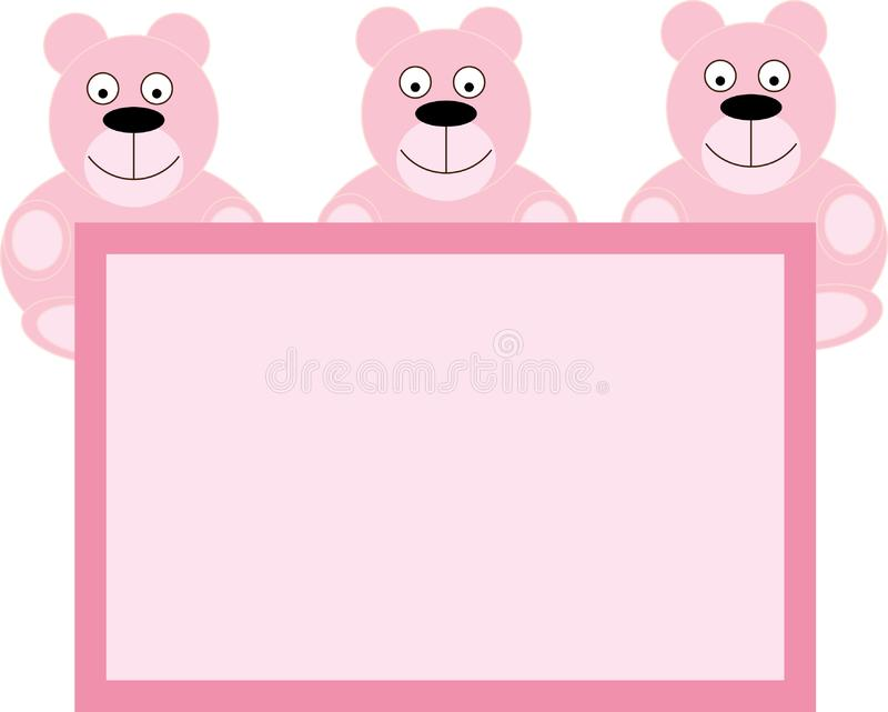Teddy Bear for Baby Girl royalty free stock photo