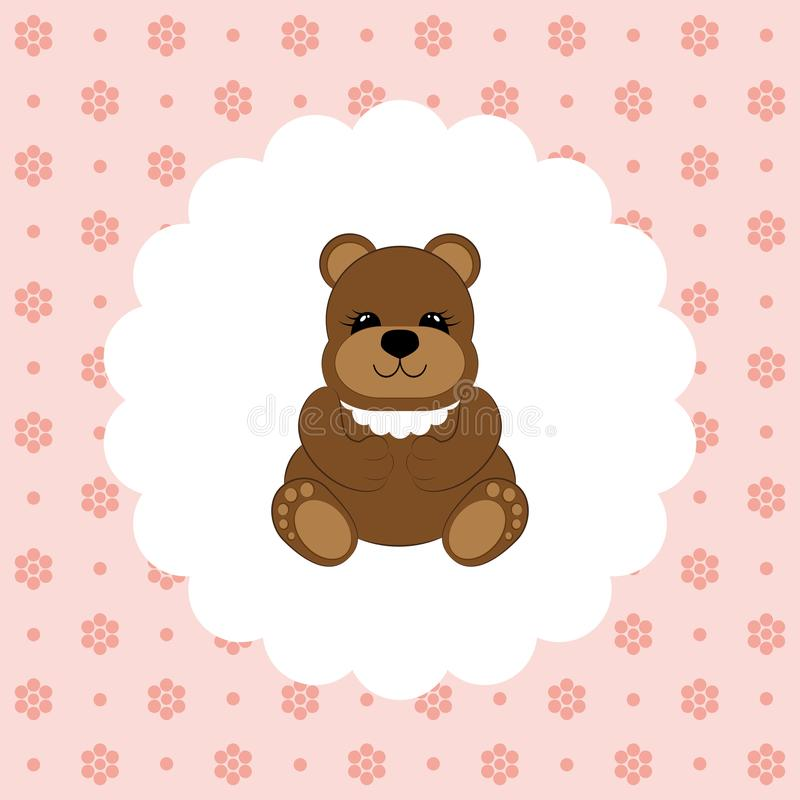 Teddy Bear Baby Vettore piano royalty illustrazione gratis