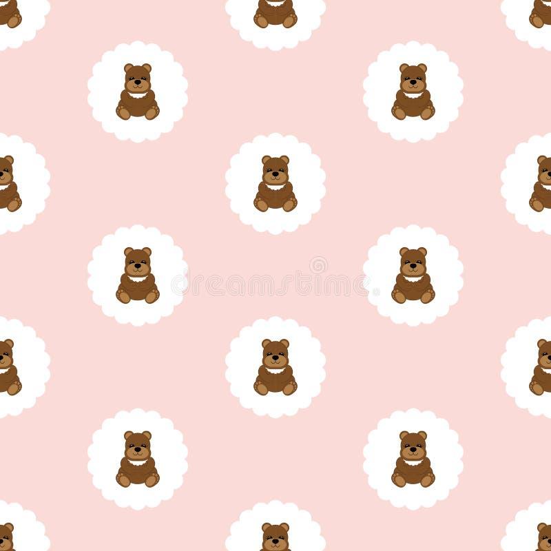 Teddy Bear Baby Vettore senza giunte piano royalty illustrazione gratis