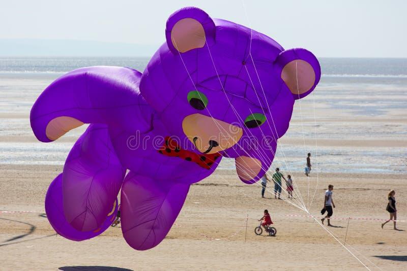 Teddy Bear bij de weston-super-Merrie Somerset van het Vliegerfestival royalty-vrije stock foto's