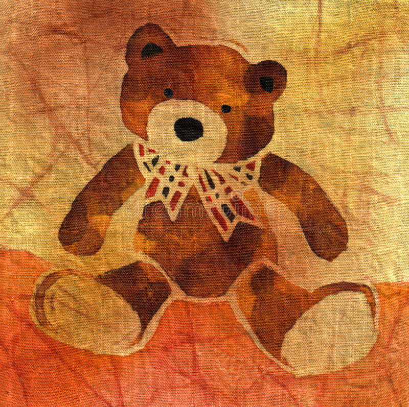 teddy bear bow royalty ilustracja