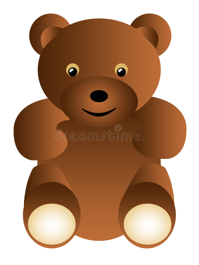 teddy bear brown royalty ilustracja