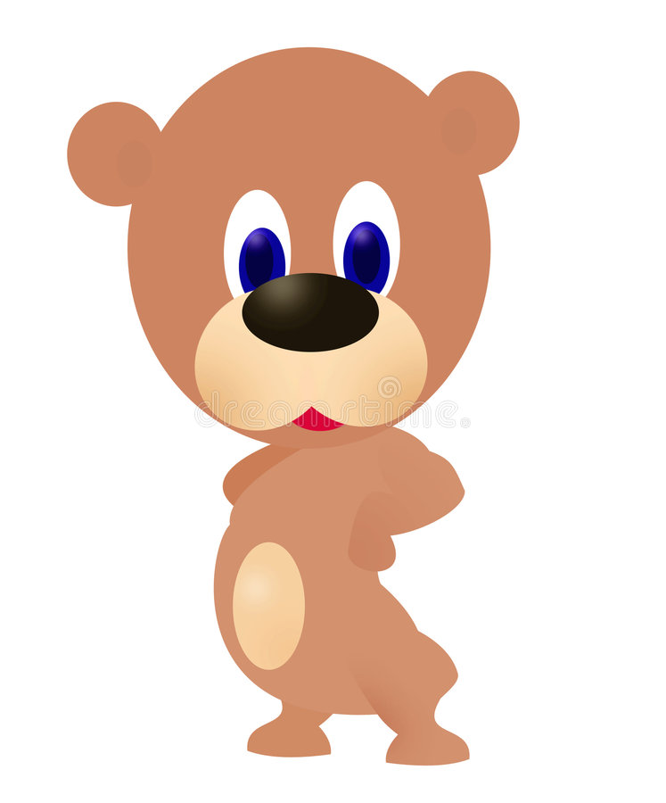 Teddy Bear cartoon royalty free illustration