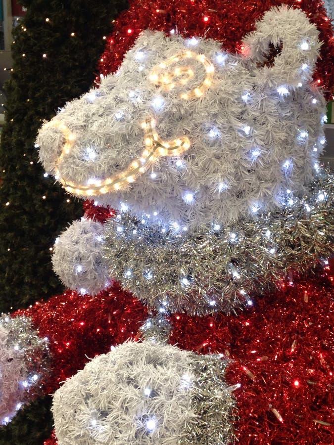 Teddy Bear Christmas Lights imagen de archivo libre de regalías