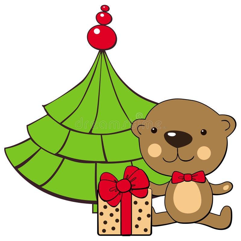 Download Teddy Bear And Christmas Tree Stock Vector - Image: 26421046
