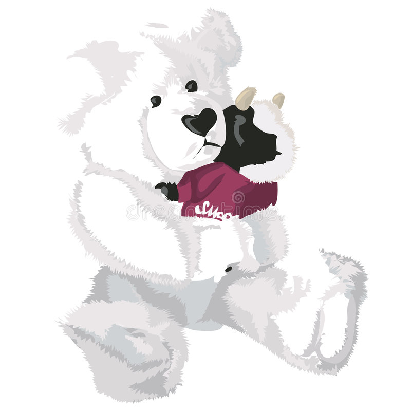 Teddy Bear with clipping path. Illustration with clipping path royalty free illustration