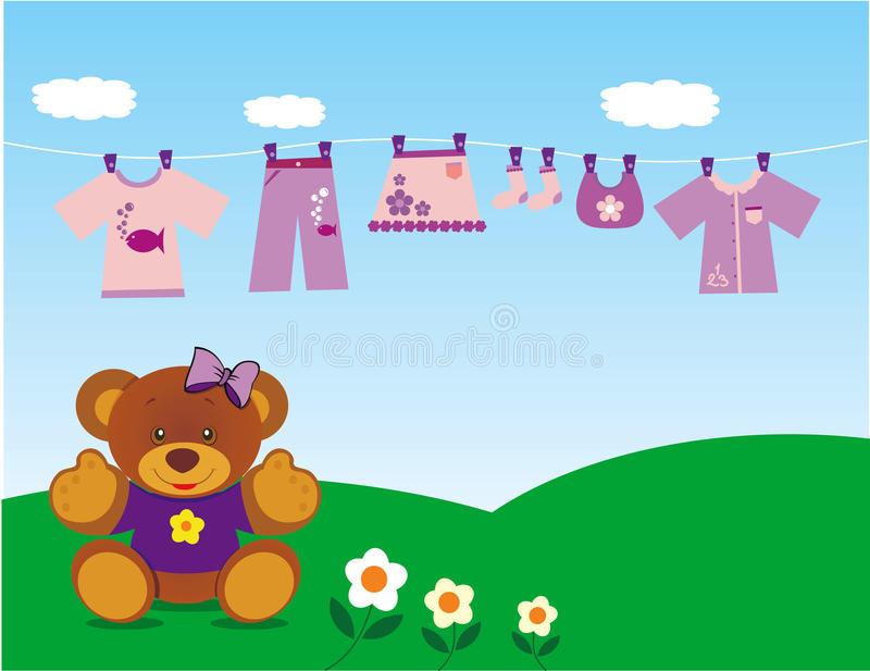 Teddy bear with clothes royalty free stock photography