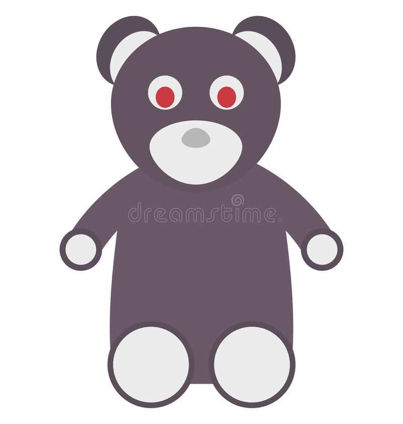 Teddy Bear Colored Vector Icon that can be easily modified or edit stock illustration