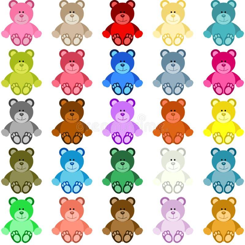 Teddy Bear colorido ilustração stock