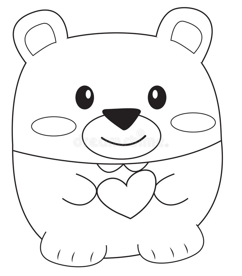 Teddy Bear Coloring Page Stock Illustration Image 52087027