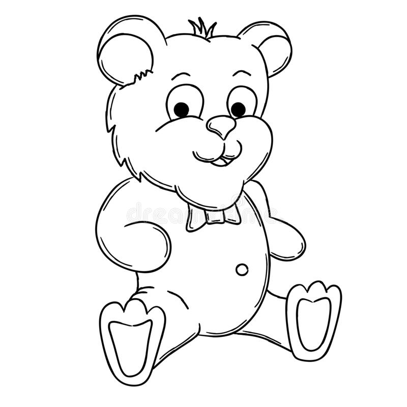 - Teddy Bear Coloring Page, Useful As Coloring Book For Kids. Stock Vector -  Illustration Of Bear, Coloring: 169879108