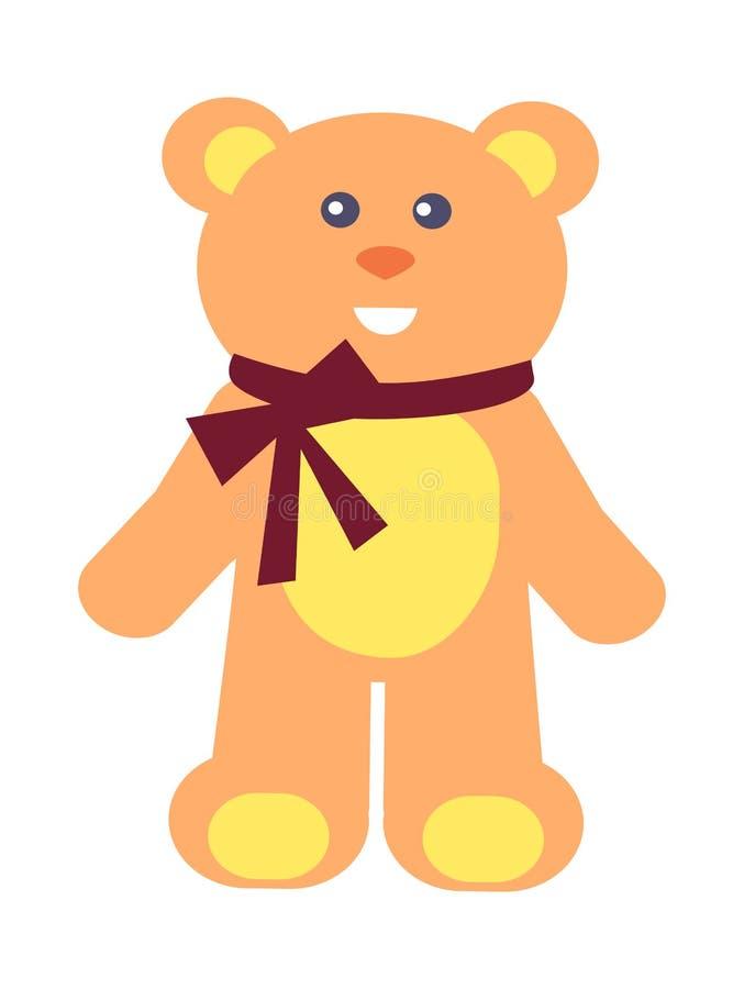 Teddy Bear com curva na ilustração do vetor do pescoço ilustração royalty free