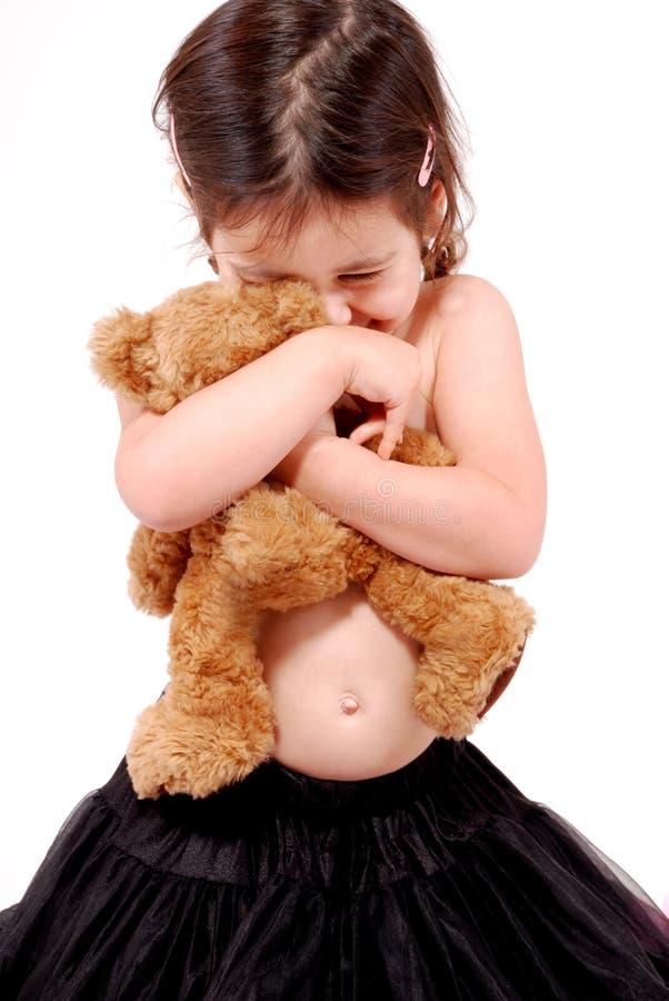 Teddy bear cuddles stock photos