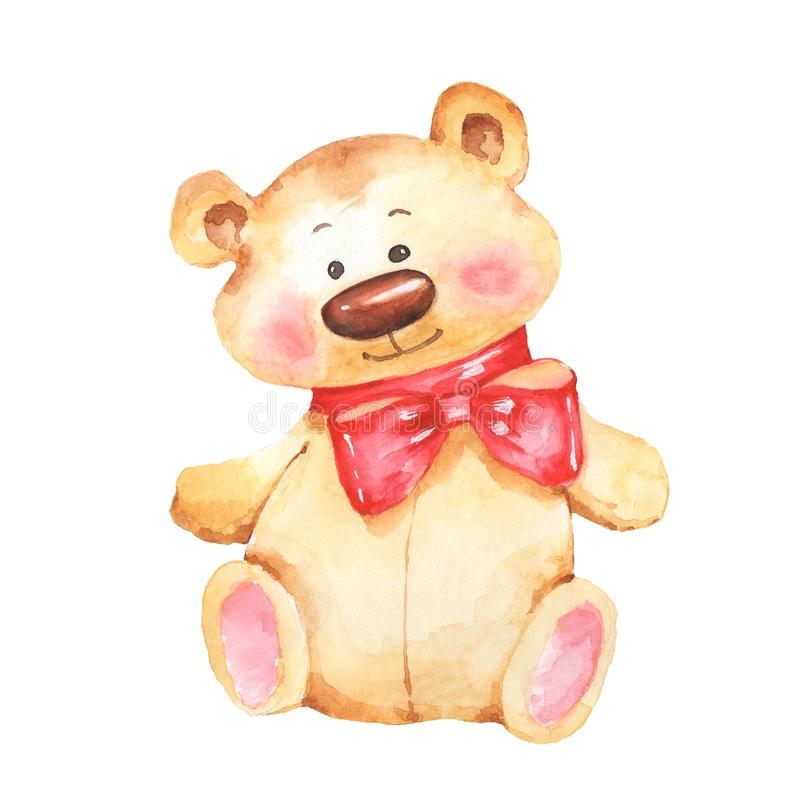 Teddy Bear De illustratie van de waterverf vector illustratie