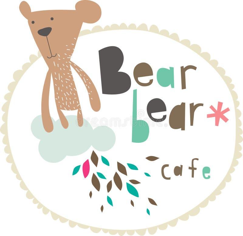 Teddy bear design royalty free illustration