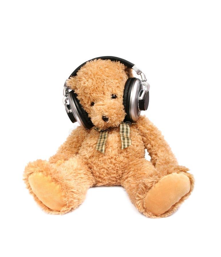 Teddy Bear With Ear-phones Stock Image