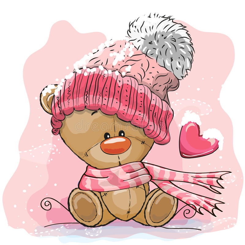 Teddy Bear in een gebreid GLB stock illustratie