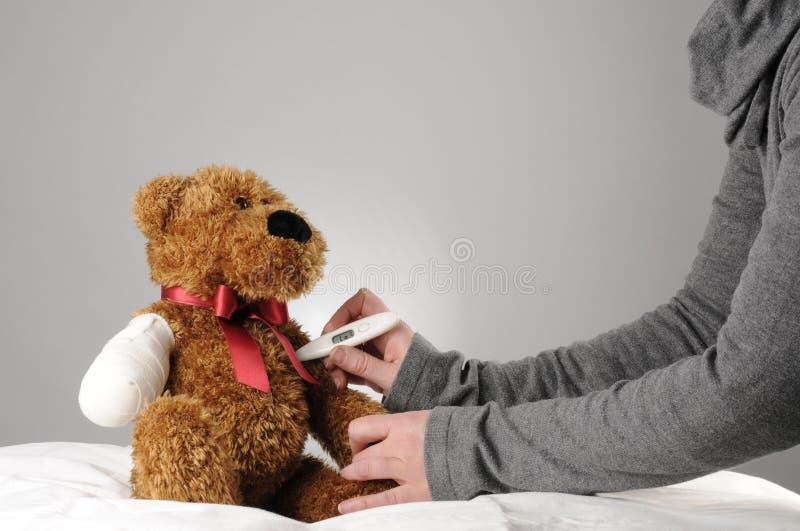 Teddy bear examination royalty free stock image