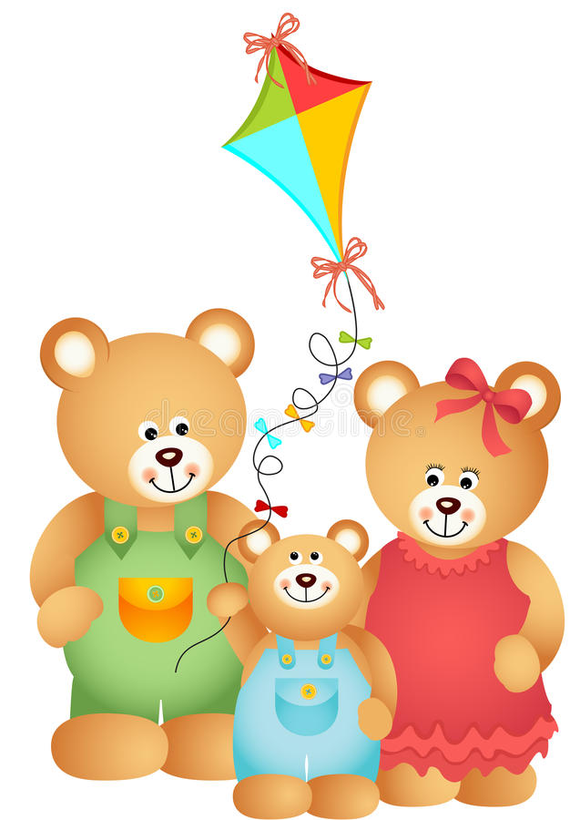Teddy Bear Family ilustração royalty free