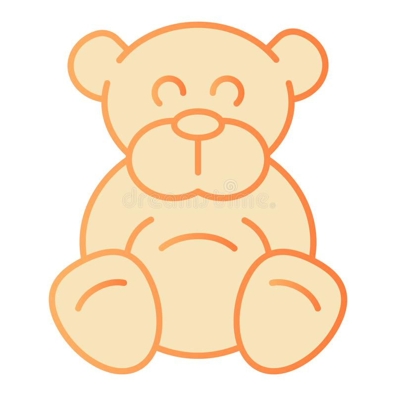 Teddy bear flat icon. Plush toy orange icons in trendy flat style. Ted gradient style design, designed for web and app stock illustration