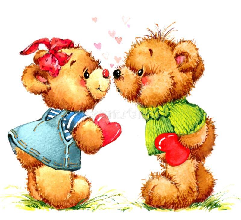 Teddy Bear Fondo del giocattolo per il compleanno del bambino illustrazione vettoriale