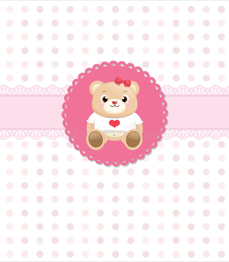 Download Teddy bear greeting card stock vector. Illustration of celebration - 23866281