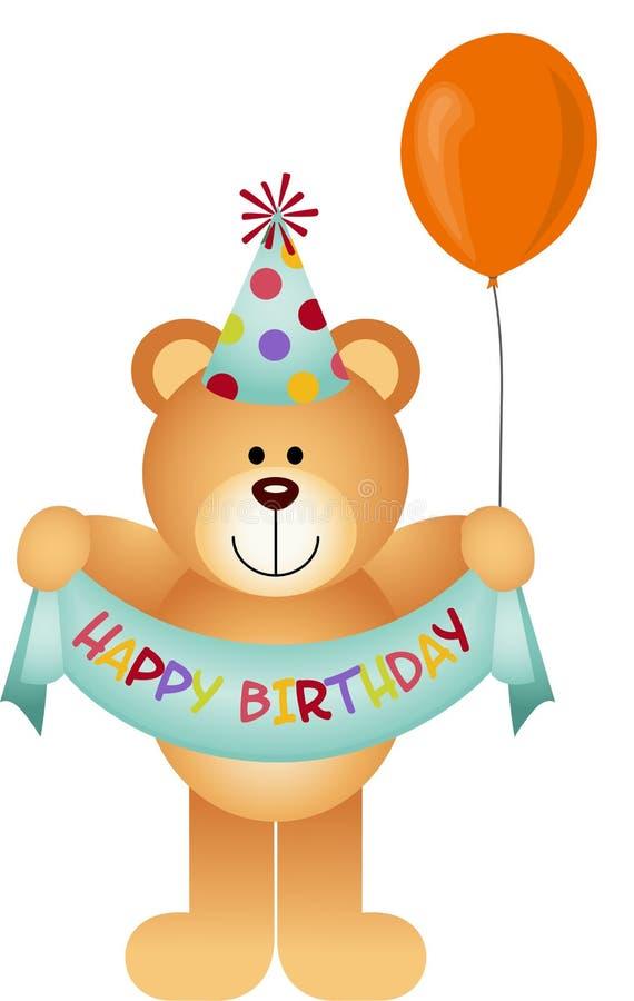 Teddy Bear Happy Birthday royalty-vrije illustratie