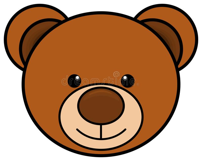 Teddy bear head icon. Cute toy clipart. Vector illustration vector illustration