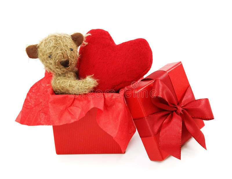 Download Teddy bear with heart stock photo. Image of valentin - 17304188