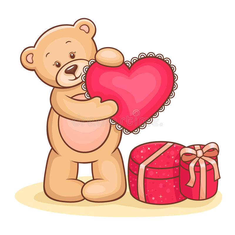 Download Teddy Bear With Heart Royalty Free Stock Images - Image: 24412259
