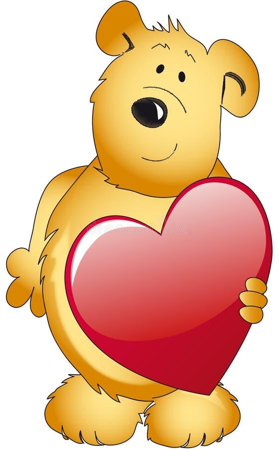 Teddy bear with heart stock photos