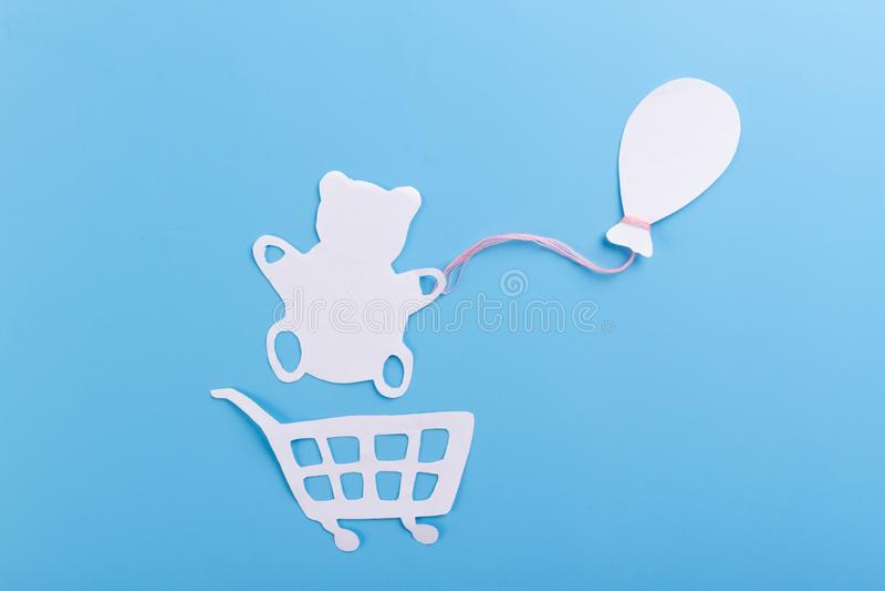 teddy bear holding air balloon royalty free stock photography
